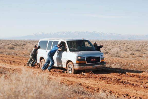 muddy car men